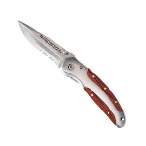 Нож WINCHESTER WOOD FOLDER SERRATED