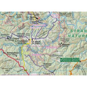 странджа туристическа карта