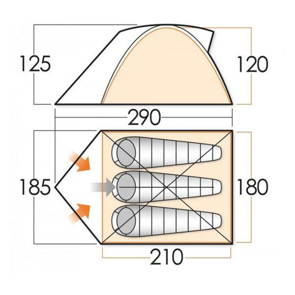 Палатка VANGO ROCK 300