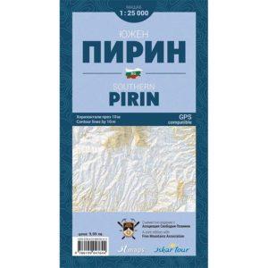 карта южен пирин