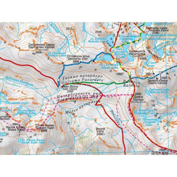 рила туристическа карта